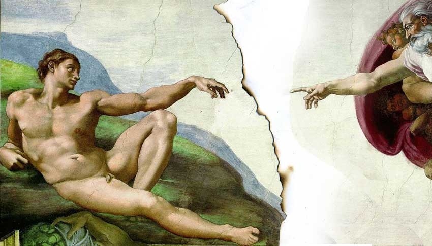 The creation by Michelangelo